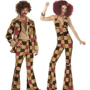 Boogie Babe 70's Disco Jumpsuit Costume Size Adult Women's Small 6-8